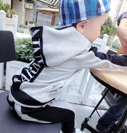 $enCountryForm.capitalKeyWord Australia - Autumn new hooded sweater two-piece boy long-sleeved letter set spring and autumn casual sportswear suit ARMA2T-8T