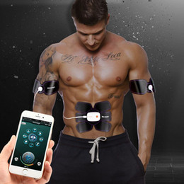 $enCountryForm.capitalKeyWord Australia - Smart App Multi EMS Abdominal Muscle Trainer Electronic Muscle Stimulator Exerciser Machine Body Slimming Fitness Massage Suit