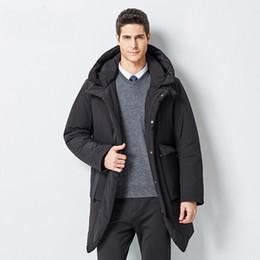 06356eb5f4053 Winter Jacket Men New Business Casual Long Warm Male Coat Fashion Mens  Overcoat Windbreaker Clothes Man