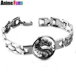 $enCountryForm.capitalKeyWord NZ - Game Mortal Kombat Dragon Logo Bracelet & Bangle Link Chain Punk Charm Bracelets for Women Men Fan Charm Gift drop-shipping