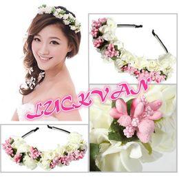 Mexican flower hair online shopping - White Flower Boho Flower Browband  Garland Festival Wedding Bridal Hair bba49be46d6