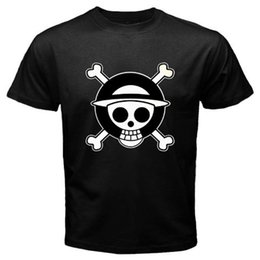 $enCountryForm.capitalKeyWord Canada - New ONE PIECE LOGO Luffy Manga Anime Cartoon Men's Black T-Shirt Size S to 3XL T-Shirt Men Clothing