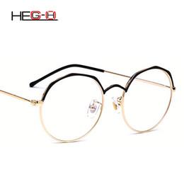 81a596d928 Clear Eyeglass Frames Designer Canada - HEG-H Women Eyeglasses Frame  Computer Glasses Eyebrow Frame