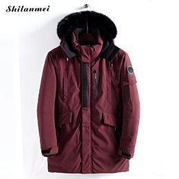 giacche da uomo parka cappottino cappotto di pelliccia oversize inverno nero  verde militare giacca lunga da uomo parka hombre imbottito spesso cappotto  2018 ... 8022993d792