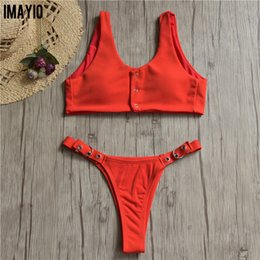 a2878dd3c8 Swimsuits for Women Sport Bikinis Set Adjustable Bikini Bottom 9Colors Low  Waisted Swimwear S-XL Bathing Suit
