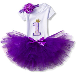China Baby Girls Clothes 1st Birthday Tutu Cake Smash Outfits Sets Newborn Baby Clothes Christening Suits Infant Girl Party Wear 3pcs cheap winter infant baby wear clothes suppliers