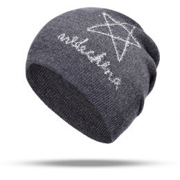 angora hats 2019 - Women Autumn And Winter Hat New Women Autumn And Winter Hat angora Knitted Skullies Beanies Cap Classic color hats Wool