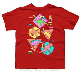 Mens Patterned Tees Australia - Casual Man Tees Mens Tops Nineties Dinosaur Pattern Boy's Youth Graphic T Shirt