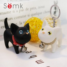 Discount volkswagen gifts - SEMK Lovely Cat Key chains Kitty kitten Keyrings lovers mobile phone car key pendant, fashion key rings cartoon keychain