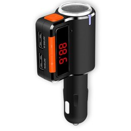 Iphone Stereo Player Australia - Car Kit MP3 Player Bluetooth stereo music play Wireless Bluetooth FM Transmitter LCD Display USB Car Charger For iPhone Android