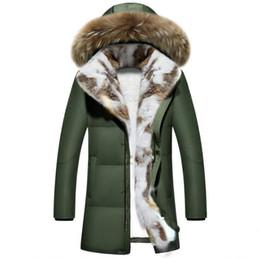 Толстая теплая зимняя куртка Парки Мужчины Повседневная меховой воротник  капюшон военное пальто ветрозащитный белая утка пуховик размер трубы 5XL f49581064ac7e