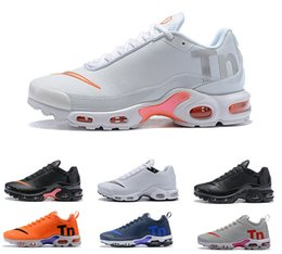 air plus shoes 2019 - Hot sell Air Mercurial Plus Tn Ultra SE Black White Orange Running Grey Shoes outdoor TN shoes Women Mens Trainers Outdo