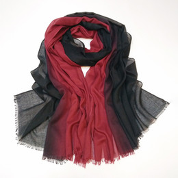 9146fd47 100*180cm 14 Colors Artificial Silk Gradient Designer Scarf Women Hijab  Shawls Pashmina Wrap Scarf Table Blanket Beach Towel