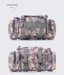 Ingrosso 10 colori Camouflage Tactical Bag Borse sportive 600D impermeabile Oxford tessuto vita Marsupio sacchetto del sacchetto esterno per il campeggio Escursionismo borsa fotografica