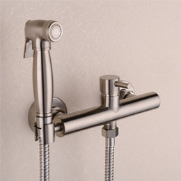 $enCountryForm.capitalKeyWord Australia - Brass Nickel Toilet Bidet Spray Hot & Cold Mixer Valve with Hose, Handheld Bidet , Portable Hand Held Bidet Shower Set
