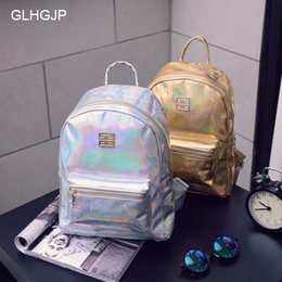 $enCountryForm.capitalKeyWord Canada - GLHGJP Laser Women Backpack Adolescent Girl School Bag Fashion Patent Leather Female Back Pack Shiny Feminina Bolsa