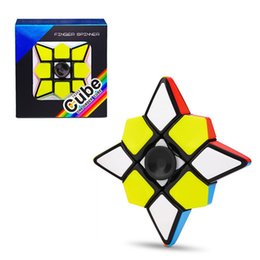 Discount magic cube gyro - First-order fingertips decompression gyro spiral fidget spinner finger revolving magic cube puzzle smooth toys magic dec