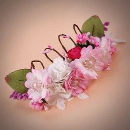 Braut Kopfbedeckung Pearl Flower Hand Woven Hochzeit Krone Foto Studio Foto Haarschmuck