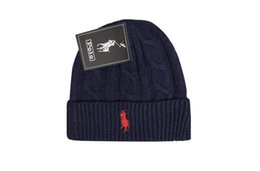 POLO beanies small horse embroidery knitted autumn winter warm hats men  women couple outdoor skull cap gorro black ab9229044269