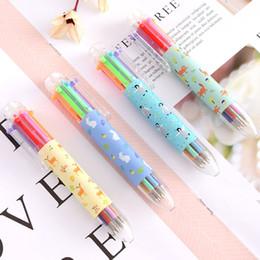 $enCountryForm.capitalKeyWord Australia - Cute 6 Colors Ballpoint Pen Kawai Cartoon Cat Ball Point Pens For Writing Kids Gift Korean Stationery Office School Supplies