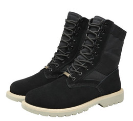 $enCountryForm.capitalKeyWord Canada - Plush Womens genuine leather Martin boots Desert ankle army boots Outdoors ladies middle half boot Canvas leather melt shoes zy838