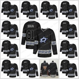 2019 Fashion Black Dallas Stars 91 Tyler Seguin 14 Jamie Benn 32 Kari  Lehtonen Hockey Jerseys 90 Jason Spezza Jersey 560fbed4a