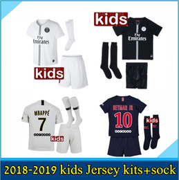 11d743732 2019 Paris kids kits+sock MBAPPE soccer jersey 18 19 psg MBAPPE CAVANI  MARQUINHOS LUCAS DI MARIA MATUIDI DANI ALVES Children football shirts