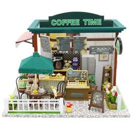 Toys For Children Years NZ - Doll House Miniature Building With Furniture Kit Wooden House Model Toys For Children New Year Christmas Gift