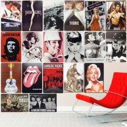 $enCountryForm.capitalKeyWord NZ - Movie Celebrity Vintage Metal Tin Signs Decoration Plates for Bar Pub Cafe Cinema Home Wall Decor Music Retro Plaques 20X30cm