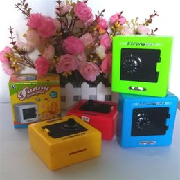 Candy banks online shopping - Plastic Password Safe Money Box Children Color Piggy Bank Craft Creative Fashion Small Storage Boxes Gifts For Kids xq Ww