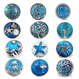 Chunks watCh online shopping - Noosa Chunks Jewelry Christmas Snap Button mm Sea Snap Jewelry fit Snap Bracelet Watches Women One Direction DIY Jewelry