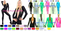 $enCountryForm.capitalKeyWord NZ - Sexy 23 Color Lycra Spandex Suit Catsuit Costumes Unisex Front Zip Bodysuit Sexy Body Suit Costumes Unisex Halloween Cosplay Costumes DH025