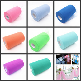 Wholesale tutus rolls resale online - 29 color Tulle Spool Mesh Organza Roll Ribbon DIY Tutu Wedding Favours Party Gift Bow Handmade DIY Cratf Decoration