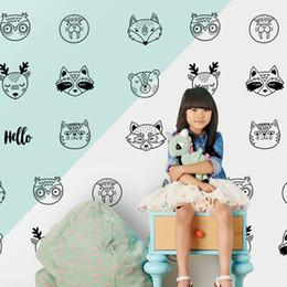 $enCountryForm.capitalKeyWord NZ - Personalized Creative Animal Head Wall Sticker Wallpaper Furniture Cabinet Art Vinyl Decal Kids Room DIY Living Room Bedroom Home Decoration