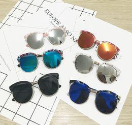 floral printed sunglasses 2019 - Fashion children sunglasses summer girls floral printed cat ears designer sunglasses kids boys Uv 400 cycling goggles ba