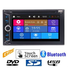 Radio electRonic music online shopping - Double DIN Car headunit Electronics car DVD P Video music Player Bluetooth GPS Navi Digital TouchScreen Car Stereo Radio Remote Control