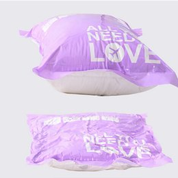 China 2 pcs Hand Pressure Hand-Rolled Compressed Space Vacuum Seal Saver Storage Travel Bag Useful Compression Space Saver New cheap vacuum seal bag rolls suppliers