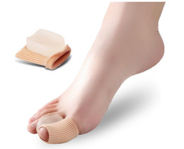 $enCountryForm.capitalKeyWord UK - Silicone Gel foot fingers Two Hole Toe Separator Thumb Valgus Protector Bunion adjuster Hallux Valgus Guard feet care beetle crusher bone