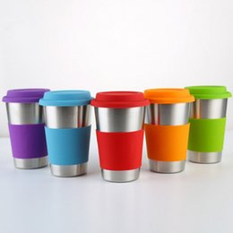 Mug foods online shopping - 500ml Stainless Steel Cup Single Layer Beer Coffee Mug Man Woman Food Grade Vacuum Tumbler Silicone Lids Without Straw sh bb