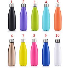 Bouteille d'eau en forme de cola Aspirateur à double paroi isolé Bouteille thermos haute luminance en acier inoxydable à haute luminance sans BPA en acier inoxydable (sécurité) 17 oz (500 ml)