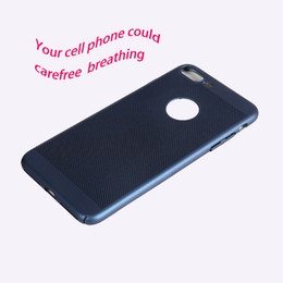 Mesh Iphone Case Black Australia - Ultra Slim Mesh Case Lightweight Heat Dissipation Anti-Scratch Premium Hard PC Shell Protective Carefree breathing Case Cover for iphone