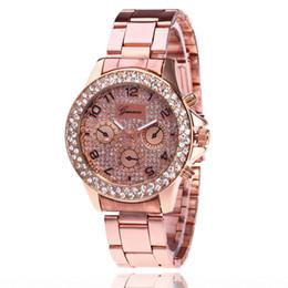 12226413d2d 8 Fotos Compra On-line Relógio rápido-Mulheres Relógios Genebra Diamante  Relógio de Aço Liga de