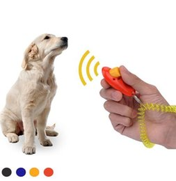 Cão de estimação Trainer Portátil Dog Button Clicker Sound Trainer Ferramenta de Treinamento para Animais de Estimação Banda de Pulso Acessório Click Training Trainer c773