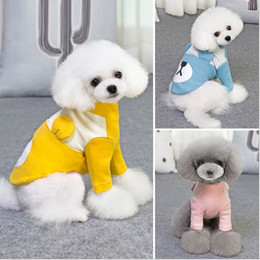 Discount coat apparel for dog - Spring autumn pet dog costume coat dog clothes sweatshirt teddy for bichon cotton dogs apparel pet supplies S-XXL