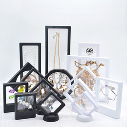 Protect jewelry online shopping - Suspended Floating Display Case Jewelry Ring Pendant Display Stand Holder Bague Packaging Box Protect Floating Presentation Case