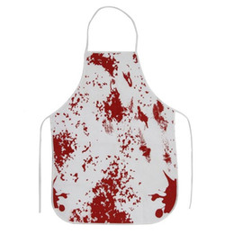 $enCountryForm.capitalKeyWord Canada - Halloween Bloody Apron Costume Accessories White Party Decoration Cosplay Costumes Polyeter Unisex Bloody Apron 10pcs lot