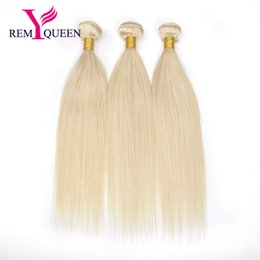 Chinese  Dream Remy Queen Malaysian Human Hair 10A Grade 613 Honey Blond Color Straight Hair Bundles 3 Wefts A Lot 100g pc manufacturers
