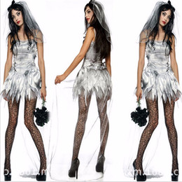 movie quality cosplay costumes Australia - sexy Ghost Bride Halloween costumesWomen Vampire Zombie Dress Decadent Dark Styling High quality Costumes Cosplay for women