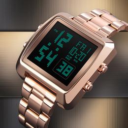 Men Digital Wrist Watches Australia - SKMEI Men Women Digital Wrist Watch Rectangle Double Time Countdown Alarm Waterproof Clock Sport Watches Relogio Masculino 1369