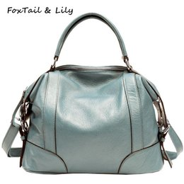 7bcbcdb3a8c9 FoxTail   Lily Women Genuine Leather Handbags Luxury Quality Real Leather  Shoulder Crossbody Bag Fashion Ladies Messenger Bags